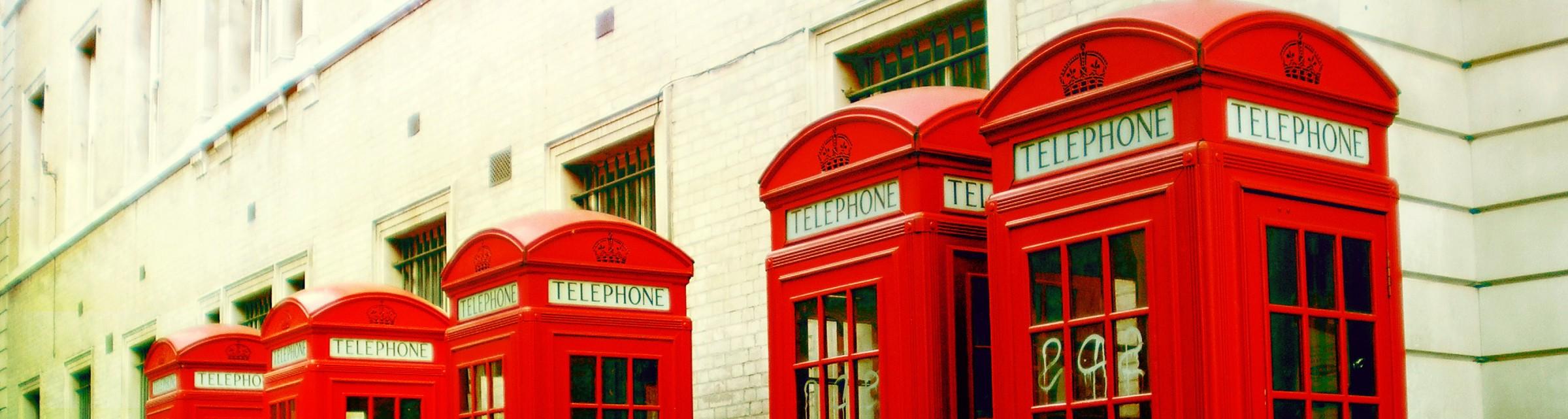 Red pillar boxes london